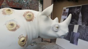 Nancy Fouts Rhino Work in Progress